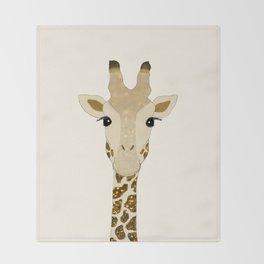 Golden Glitter Giraffe Throw Blanket