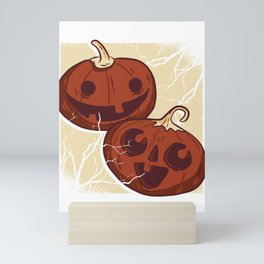 Funny pumpkin disguise Halloween outfit for costume party Mini Art Print