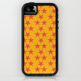 Starry red & yellow iPhone Case