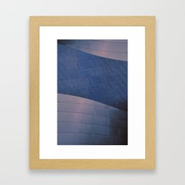 Blue and Rose architectural abstract of the home to the LA Philharmonic. Architect: Frank Gehry Framed Art Print