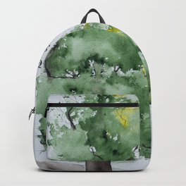 Watercolor painting of Oak tree with Bible verse Backpack