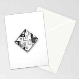 black abstract Stationery Cards