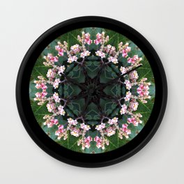 Ring of Flowers Wall Clock