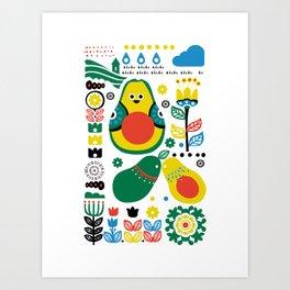 Scandinavian Avocado Art Print