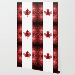 Canada flag red sparkles Wallpaper