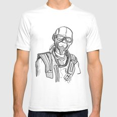 borderlands mordecai Mens Fitted Tee White SMALL