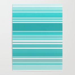 Gradient blue Poster