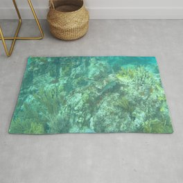 Watercolor Seascape, St John 06, USVI Rug