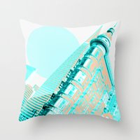 san francisco Throw Pillows featuring San Francisco by DM Davis