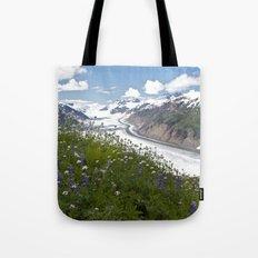 Glacial Flowers Tote Bag