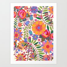 Just Flowers Lite Art Print