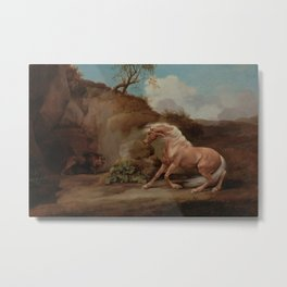 George Stubbs - Horse Frightened by a Lion Metal Print