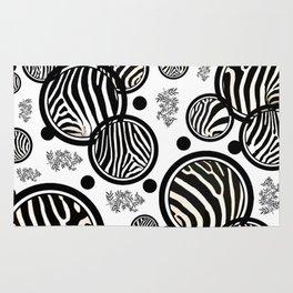 Zebra Circles Rug
