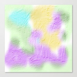 Thick pastel painted texture Canvas Print