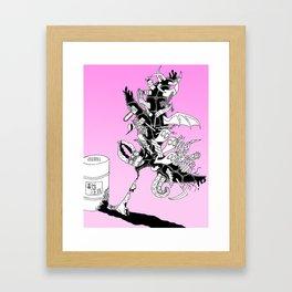 Toxic Framed Art Print
