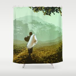Can't Wait to Come Home Shower Curtain