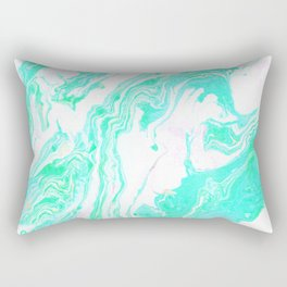 tie dye series: aquamarine Rectangular Pillow