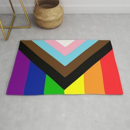 Progress Pride Flag Rug