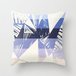 Geometrical ivory lilac modern abstract shapes Throw Pillow