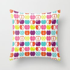 Textured Apples Throw Pillow
