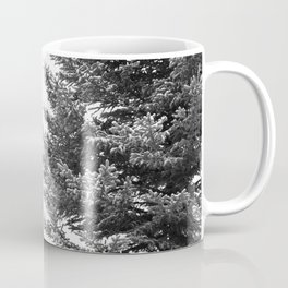 B&W Spruce Branches Coffee Mug