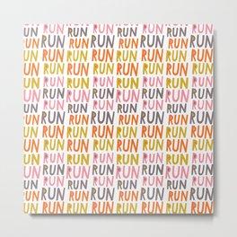 Pattern Project #19 / Run Run Run Metal Print