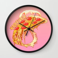 forever pizza Wall Clock