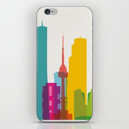 Shapes of Seoul accurate to scale iPhone Skin