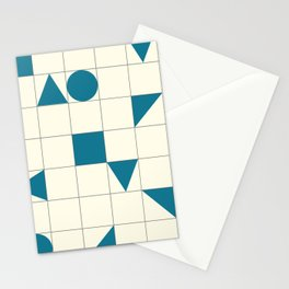 geo shapes-teal Stationery Cards