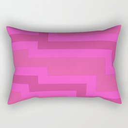 Think Pink Abstract Rectangular Pillow