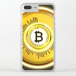 Bitcoin Glow Clear iPhone Case