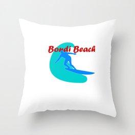 Surfer in Bondi Beach Throw Pillow