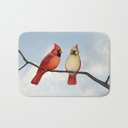 cardinal couple Bath Mat