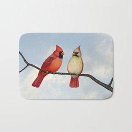 cardinal couple Bath Mat