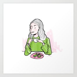 Breakfast in Style Art Print