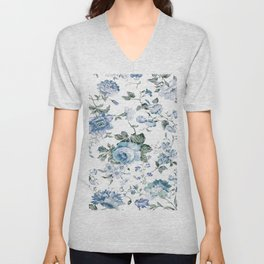 Christine blue Unisex V-Neck