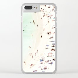 Beach Vacation Clear iPhone Case