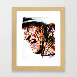 Freddy Kruger Framed Art Print