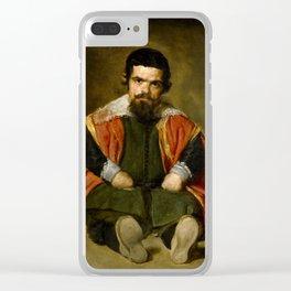 """Diego Velázquez """"Don Sebastian de Morra"""" Clear iPhone Case"""