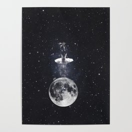 Ballerina on the moon. Poster