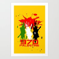 palestine Art Prints featuring Palestine Code by Maxvtis