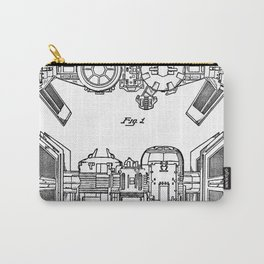 Starwars Tie Bomber Patent - Tie Bomber Art - Black And White Carry-All Pouch