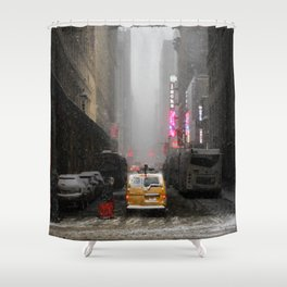 Snow Empire - NYC Shower Curtain