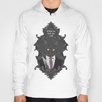 american psycho Hoodies featuring American Psycho Kitty by Elisabeth Acerbi