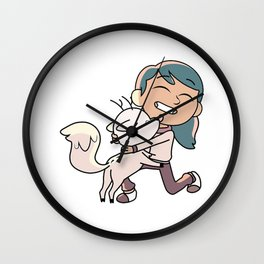 Hilda and Twig Wall Clock