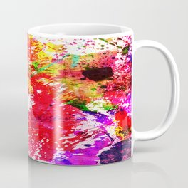 Expression Of Colour - Abstract Painting In Rainbow Colours Coffee Mug