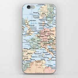 World Map Europe iPhone Skin