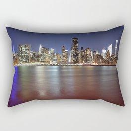 Manhattan From Gantry Park Rectangular Pillow