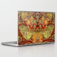 flamingos Laptop & iPad Skins featuring Flamingos by Waelad Akadan