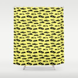 Classic Cars // Yellow Shower Curtain
